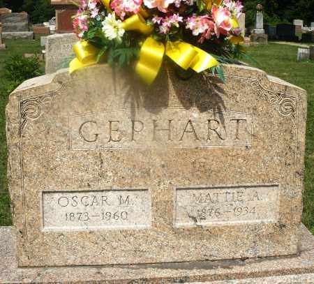 GEPHART, MATTIE A. - Montgomery County, Ohio | MATTIE A. GEPHART - Ohio Gravestone Photos