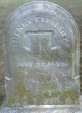 GERHARD/GEBHART, HENRY - Montgomery County, Ohio | HENRY GERHARD/GEBHART - Ohio Gravestone Photos
