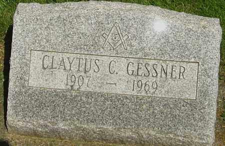 GESSNER, CLAYTUS C - Montgomery County, Ohio | CLAYTUS C GESSNER - Ohio Gravestone Photos