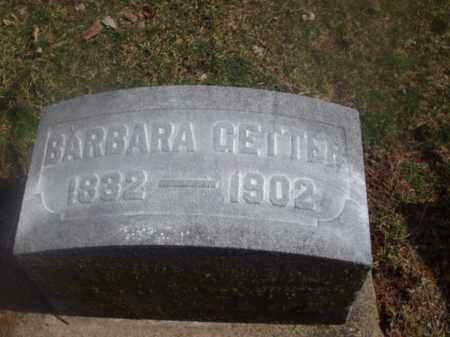 GETTER, BARBARA - Montgomery County, Ohio | BARBARA GETTER - Ohio Gravestone Photos