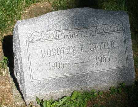 GETTER, DOROTHY E. - Montgomery County, Ohio | DOROTHY E. GETTER - Ohio Gravestone Photos