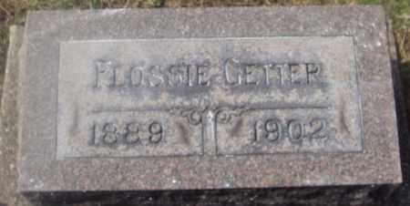 GETTER, FLOSSIE - Montgomery County, Ohio | FLOSSIE GETTER - Ohio Gravestone Photos