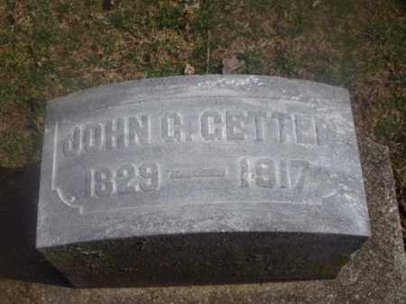 GETTER, JOHN C. - Montgomery County, Ohio | JOHN C. GETTER - Ohio Gravestone Photos
