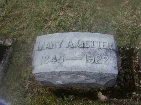 GETTER, MARY ANN - Montgomery County, Ohio | MARY ANN GETTER - Ohio Gravestone Photos