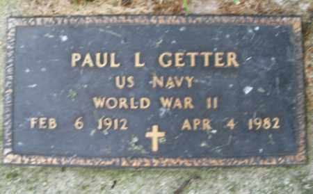 GETTER, PAUL L. - Montgomery County, Ohio | PAUL L. GETTER - Ohio Gravestone Photos
