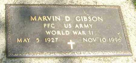 GIBSON, MARVIN D - Montgomery County, Ohio | MARVIN D GIBSON - Ohio Gravestone Photos
