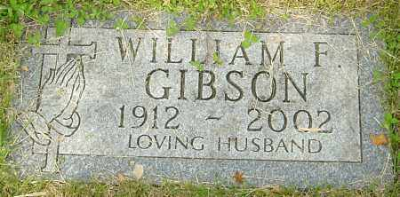 GIBSON, WILLIAM F - Montgomery County, Ohio | WILLIAM F GIBSON - Ohio Gravestone Photos