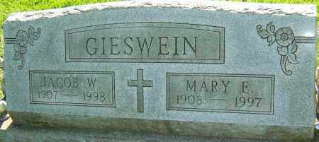 GIESWEIN, MARY E - Montgomery County, Ohio | MARY E GIESWEIN - Ohio Gravestone Photos