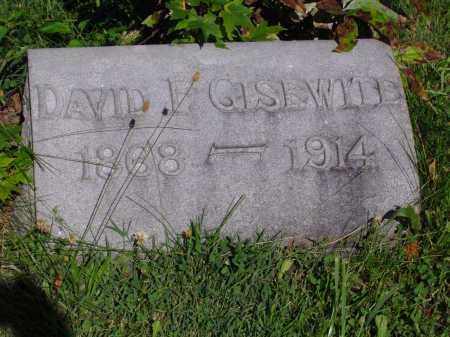 GISEWITE, DAVID F - Montgomery County, Ohio   DAVID F GISEWITE - Ohio Gravestone Photos