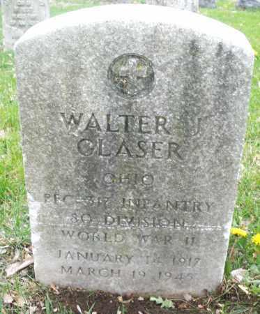 GLASER, WALTER - Montgomery County, Ohio | WALTER GLASER - Ohio Gravestone Photos