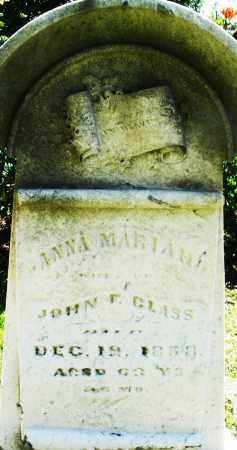 GLASS, ANNA MARIAH - Montgomery County, Ohio | ANNA MARIAH GLASS - Ohio Gravestone Photos