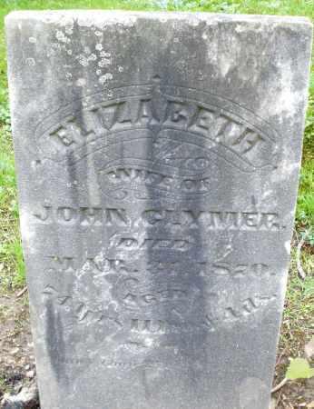 GLYMER, ELIZABETH - Montgomery County, Ohio | ELIZABETH GLYMER - Ohio Gravestone Photos