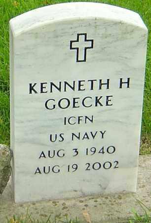 GOECKE, KENNETH H - Montgomery County, Ohio | KENNETH H GOECKE - Ohio Gravestone Photos