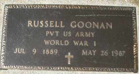 GOONAN, RUSSELL - Montgomery County, Ohio | RUSSELL GOONAN - Ohio Gravestone Photos