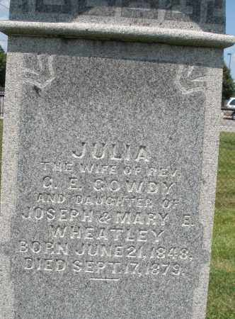 WHEATLEY GOWDY, JULIA - Montgomery County, Ohio | JULIA WHEATLEY GOWDY - Ohio Gravestone Photos