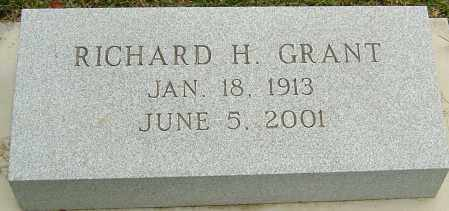 GRANT, RICHARD H - Montgomery County, Ohio | RICHARD H GRANT - Ohio Gravestone Photos