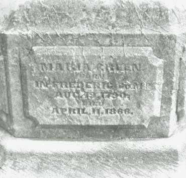 GREEN, MARIA - Montgomery County, Ohio | MARIA GREEN - Ohio Gravestone Photos