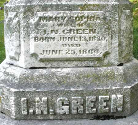 GREEN, MARY SOPHIA - Montgomery County, Ohio | MARY SOPHIA GREEN - Ohio Gravestone Photos