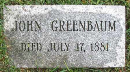 GREENBAUM, JOHN - Montgomery County, Ohio | JOHN GREENBAUM - Ohio Gravestone Photos