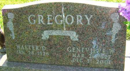 GREGORY, GENEVIEVE W - Montgomery County, Ohio | GENEVIEVE W GREGORY - Ohio Gravestone Photos