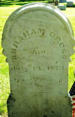 GRESS, ABRAHAM - Montgomery County, Ohio | ABRAHAM GRESS - Ohio Gravestone Photos
