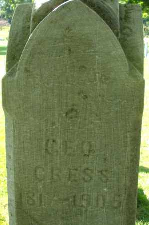 GRESS, GEORGE - Montgomery County, Ohio | GEORGE GRESS - Ohio Gravestone Photos