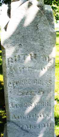 GRESS, RUTH - Montgomery County, Ohio | RUTH GRESS - Ohio Gravestone Photos