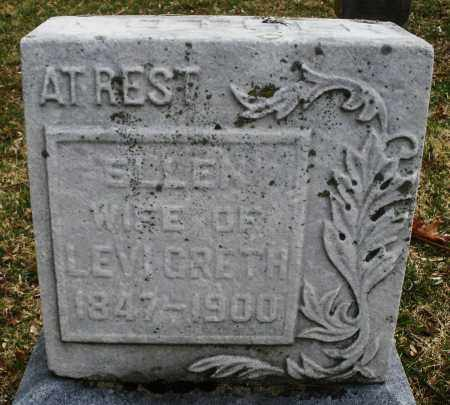 GRETH, ELLEN - Montgomery County, Ohio | ELLEN GRETH - Ohio Gravestone Photos
