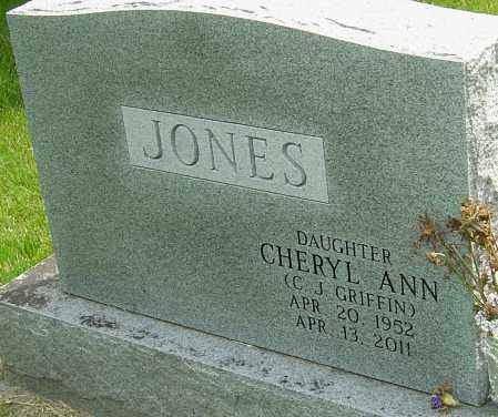 "JONES GRIFFIN, CHERYL ANN ""C J"" - Montgomery County, Ohio 