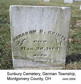 GRIMES, ABRAHAM N - Montgomery County, Ohio | ABRAHAM N GRIMES - Ohio Gravestone Photos