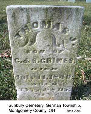 GRIMES, THOMAS J - Montgomery County, Ohio | THOMAS J GRIMES - Ohio Gravestone Photos
