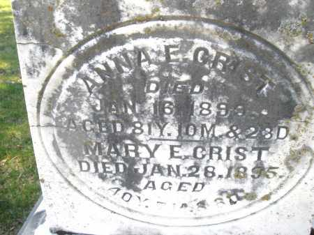 GRIST, ANNA - Montgomery County, Ohio | ANNA GRIST - Ohio Gravestone Photos