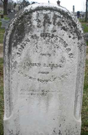 GRISTMAN, JOHN - Montgomery County, Ohio | JOHN GRISTMAN - Ohio Gravestone Photos