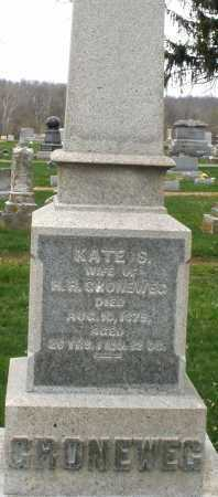 GRONEWEG, KATE S. - Montgomery County, Ohio | KATE S. GRONEWEG - Ohio Gravestone Photos
