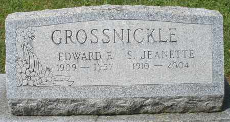 GROSSNICKLE, EDWARD F. - Montgomery County, Ohio | EDWARD F. GROSSNICKLE - Ohio Gravestone Photos