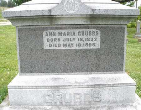 GRUBBS, ANN MARIA - Montgomery County, Ohio | ANN MARIA GRUBBS - Ohio Gravestone Photos