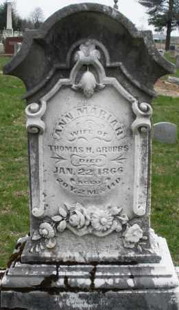 GRUBBS, ANN MARIAH - Montgomery County, Ohio | ANN MARIAH GRUBBS - Ohio Gravestone Photos