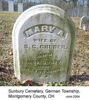 GRUBER, MARY A - Montgomery County, Ohio | MARY A GRUBER - Ohio Gravestone Photos