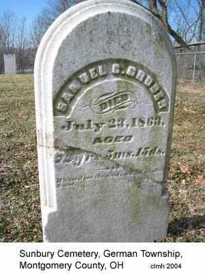 GRUBER, SAMUEL C - Montgomery County, Ohio | SAMUEL C GRUBER - Ohio Gravestone Photos