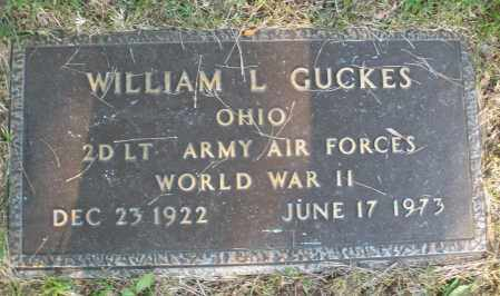 GUCKES, WILLIAM L. - Montgomery County, Ohio | WILLIAM L. GUCKES - Ohio Gravestone Photos