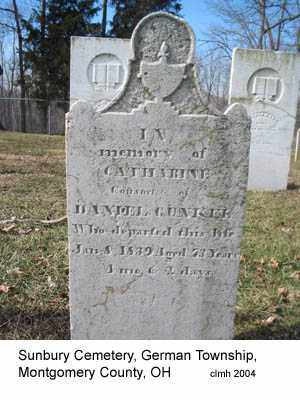 GUNCKEL, CATHARINE - Montgomery County, Ohio | CATHARINE GUNCKEL - Ohio Gravestone Photos