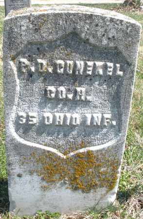 GUNCKEL, P. D. - Montgomery County, Ohio | P. D. GUNCKEL - Ohio Gravestone Photos