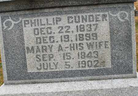 GUNDER, MARY A. - Montgomery County, Ohio | MARY A. GUNDER - Ohio Gravestone Photos