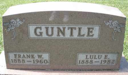 GUNTLE, FRANK W. - Montgomery County, Ohio | FRANK W. GUNTLE - Ohio Gravestone Photos