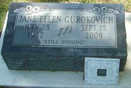 GUROKOVICH, JANE ELLEN - Montgomery County, Ohio | JANE ELLEN GUROKOVICH - Ohio Gravestone Photos