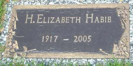HABIB, H. ELIZABETH - Montgomery County, Ohio | H. ELIZABETH HABIB - Ohio Gravestone Photos