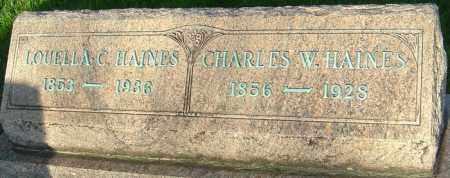 HAINES, CHARLES - Montgomery County, Ohio | CHARLES HAINES - Ohio Gravestone Photos