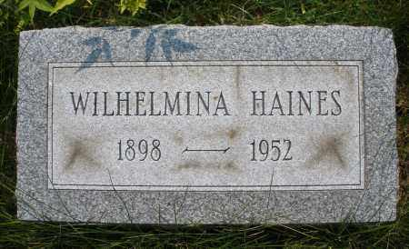 HAINES, WILHELMINA - Montgomery County, Ohio | WILHELMINA HAINES - Ohio Gravestone Photos