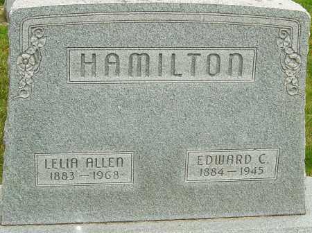 HAMILTON, EDWARD CALVIN - Montgomery County, Ohio | EDWARD CALVIN HAMILTON - Ohio Gravestone Photos