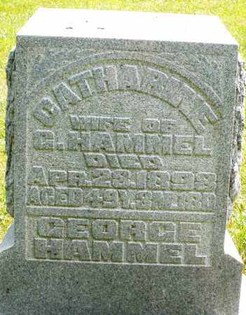 HAMMEL, CATHARINE - Montgomery County, Ohio | CATHARINE HAMMEL - Ohio Gravestone Photos